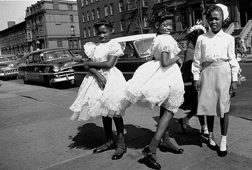 Four Girls, Easter Sunday by William Klein at