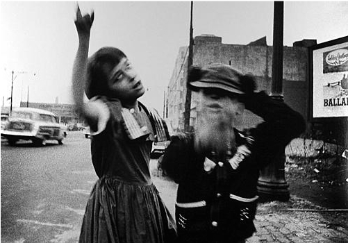 Girl Dancing In Brooklyn by William Klein at