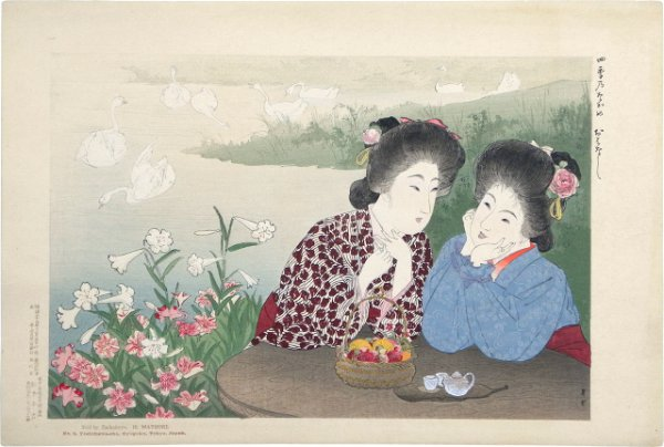 Scenes From The Four Seasons: A Chat By The Flower by Yamamoto Shoun