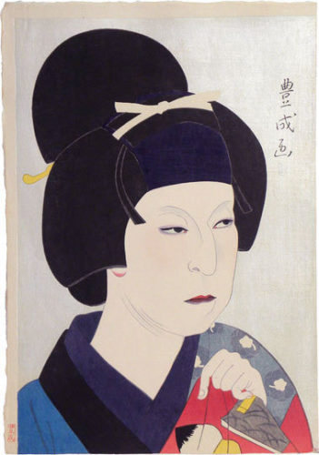 Flowers Of The Theatrical World: Nakamura Utaemon V As Owasa by Yamamura Koka, Toyonari