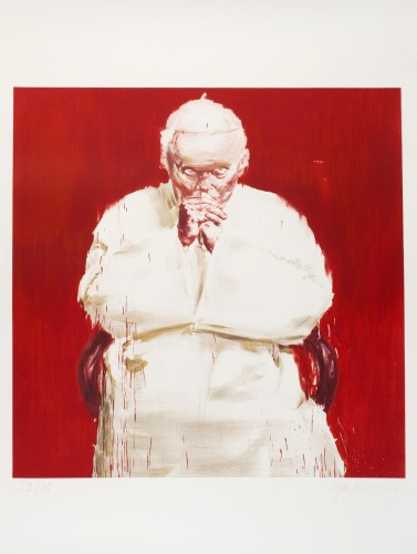 Pope by Yan Pei-Ming