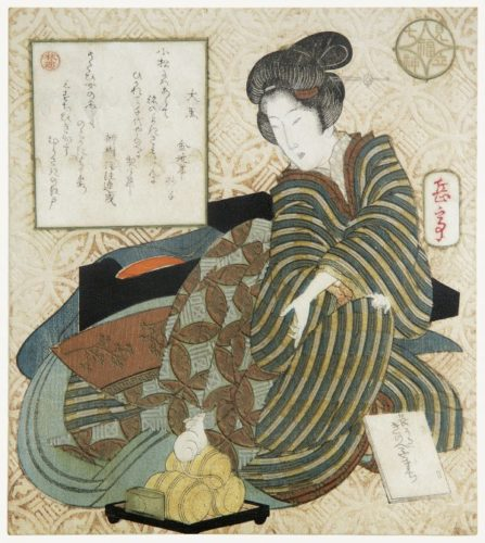 Seated Courtesan, Referring To Daikoku by Yashima Gakutei