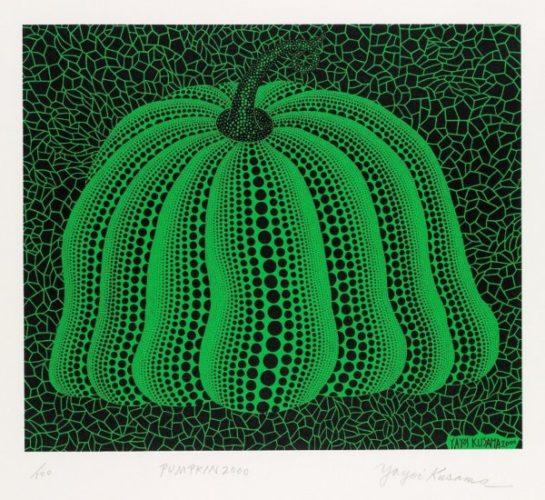 Pumpkin 2000 (green) by Yayoi Kusama at Lougher Contemporary