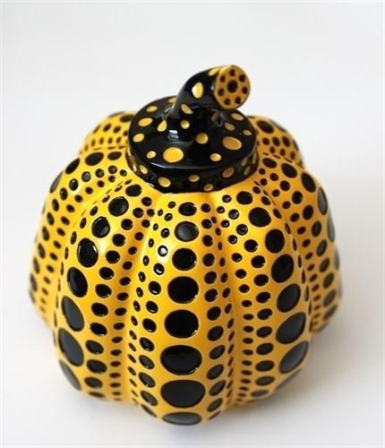 Pumpkin (yellow/black) by Yayoi Kusama at