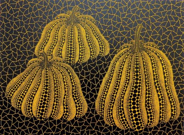 Three Pumpkins by Yayoi Kusama