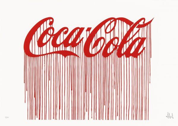 Liquidated Coca-cola by Zevs at