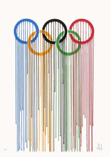 Liquidated Olympic Rings by Zevs
