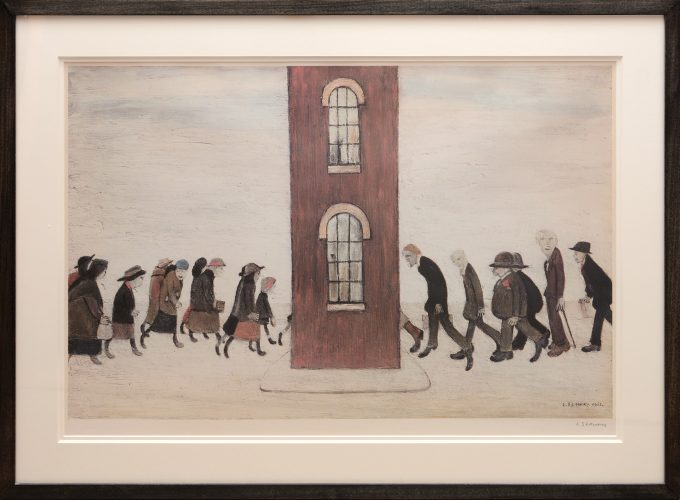 Meeting Point by L S Lowry