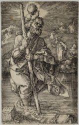 Saint Christopher Facing Right by Albrecht Durer at Sarah Sauvin (IFPDA)