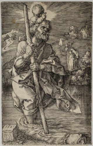 Saint Christopher Facing Right by Albrecht Durer