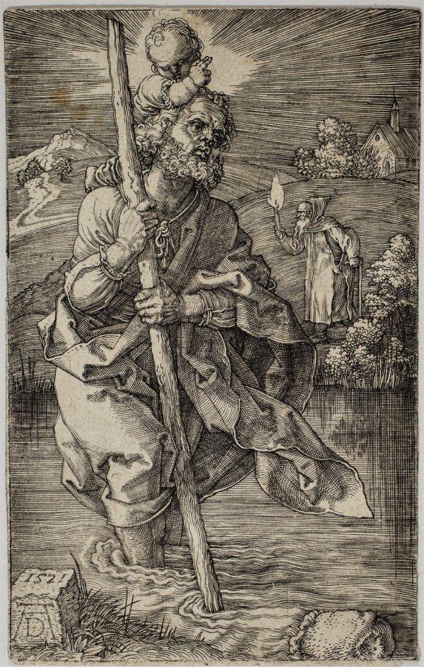 Saint Christopher Facing Right by Albrecht Durer