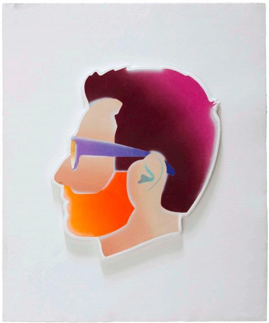 Self-portrait (violet Hair) by Alex Israel
