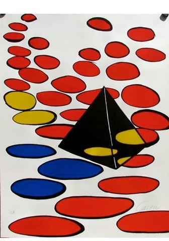 Black Pyramid With Circles by Alexander Calder at