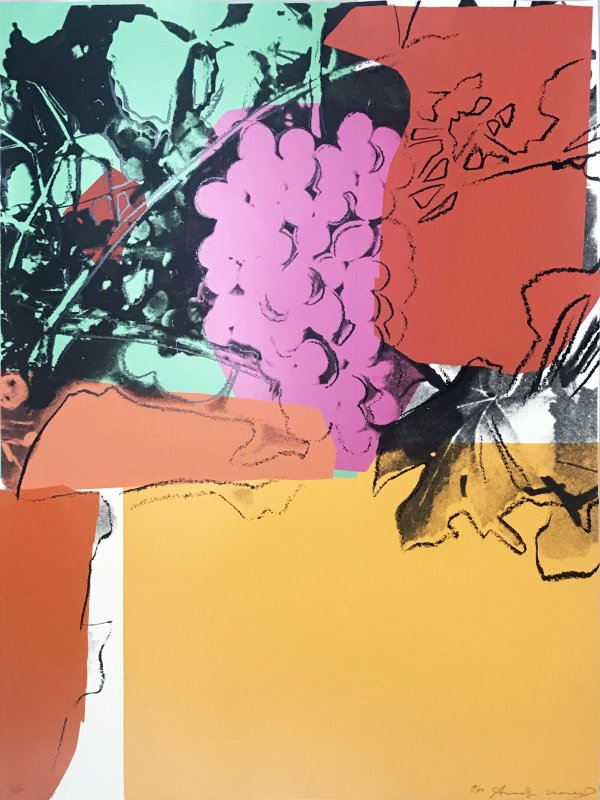 Grapes, Ii.190 by Andy Warhol