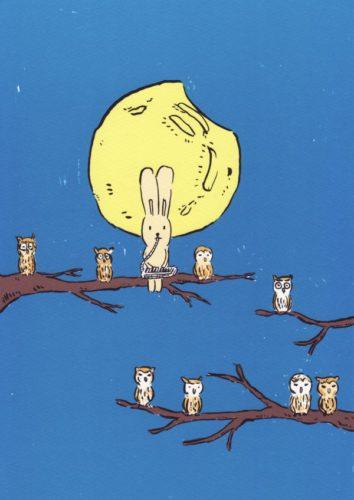 Usacchi With Owls by Atsushi Kaga