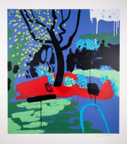 Turquoise Hosepipe Ban by Bruce McLean