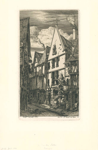 La Rue Des Toiles, à Bourges by Charles Meryon at