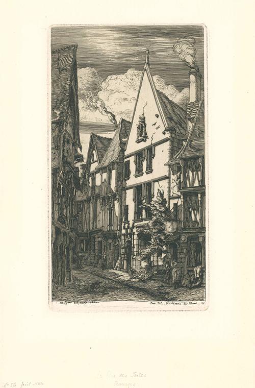 La Rue Des Toiles, à Bourges by Charles Meryon