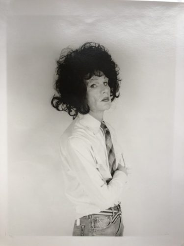 Andy Warhol, Dark Wig (altered Images) by Christopher Makos