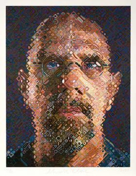 Self Portrait 2007 by Chuck Close at