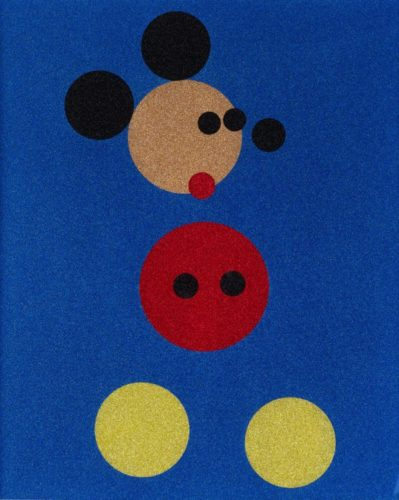 Mickey (blue Glitter) by Damien Hirst at Damien Hirst