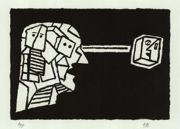 Man Looking At Paul Klee by Derek Boshier at