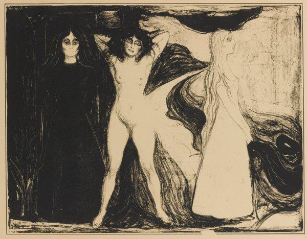 Das Weib (woman/sphinx) by Edvard Munch