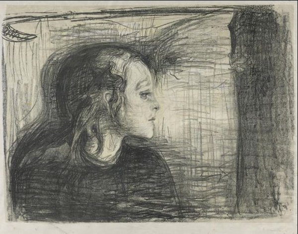 Det Syke Barn I (the Sick Child I) by Edvard Munch at
