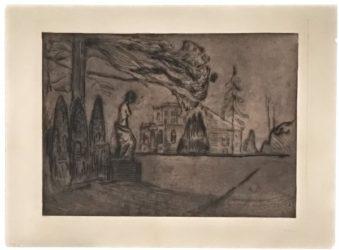 Hagen Om Natten (the Garden At Night) by Edvard Munch at John Szoke Gallery (IFPDA)