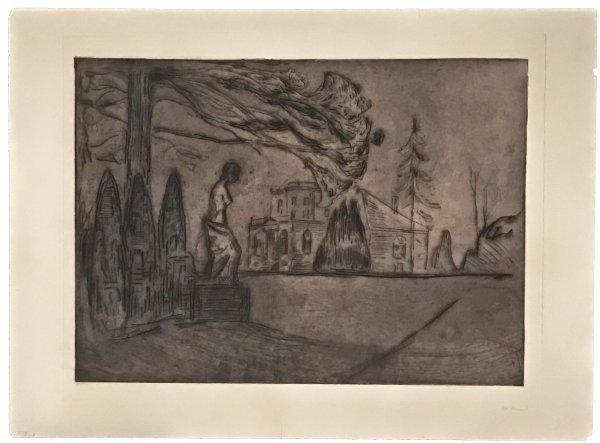 Hagen Om Natten (the Garden At Night) by Edvard Munch