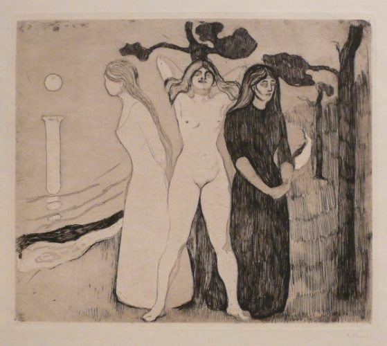 Kvinnen Ii (the Woman Ii) by Edvard Munch at John Szoke Gallery (IFPDA)