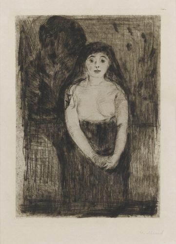 Modellstudie (study Of A Model) by Edvard Munch at Edvard Munch