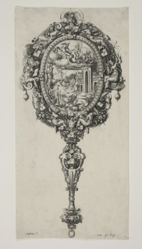 Design Of A Mirror With Medea Rejuvenating Aeson by Etienne Delaune at