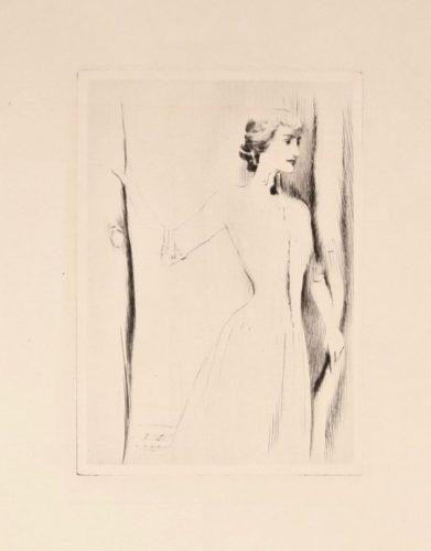 Le Rideau by Fernand Khnopff