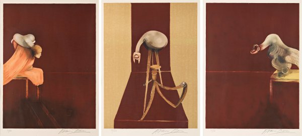Second Version, Triptych 1944 by Francis Bacon at