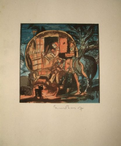Gypsy Caravan by Frank Brangwyn at