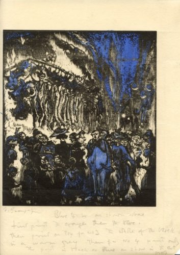 Street Scene by Frank Brangwyn at