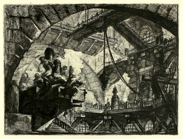 Prisoners On A Projecting Platform (carceri X) by Giovanni Battista Piranesi