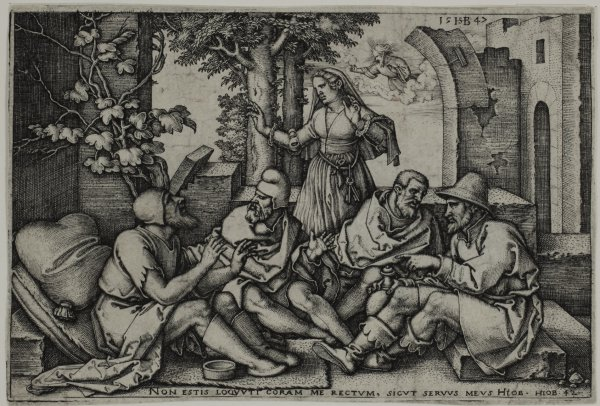 Job Conversing With His Friends by Hans Sebald Beham at