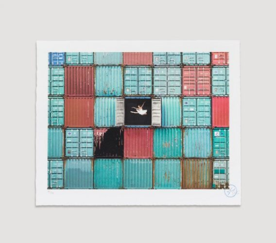 The Ballerina Jumping In Containers, Le Havre, Fra by JR at JR