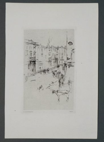 Alderney Street by James Abbott McNeill Whistler