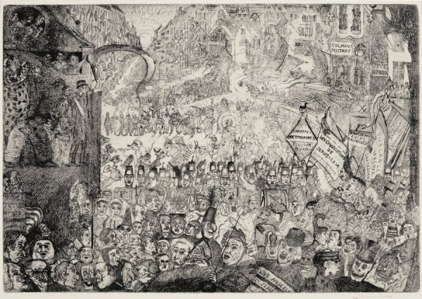 The Entry Of Christ Into Brussels by James Ensor