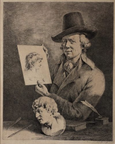 Jean-jacques De Boissieu. Portrait Of The Artist by Jean-Jacques de Boissieu