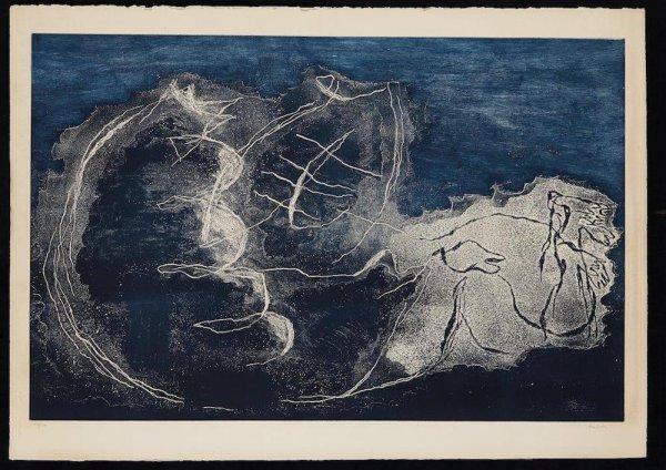 Femme Dans La Nuit by Jean Fautrier
