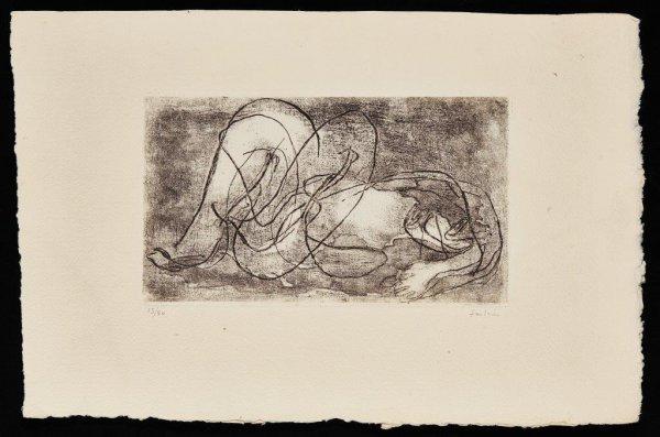 Femme étendue Iv by Jean Fautrier