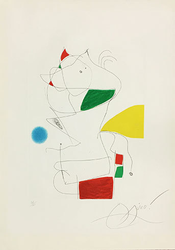 'hommage A San Lazzaro' (le Demi-sommeil De L'atte by Joan Miro