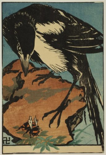 Magpie And Wasp by Jules Chadel