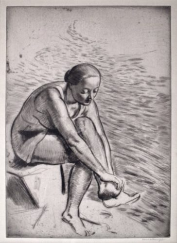 Girl Bathing by Laura Knight