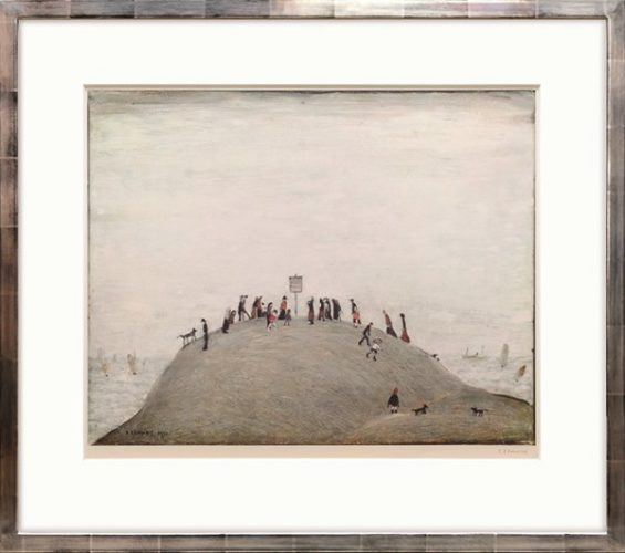The Notice Board by L S Lowry
