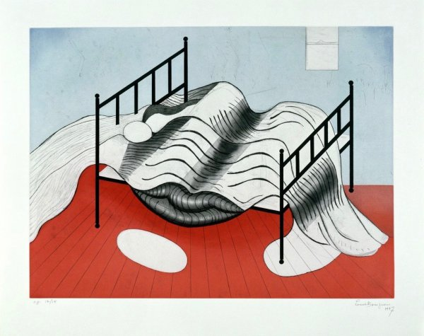 Le Lit Gros Édredon (with Lips) by Louise Bourgeois